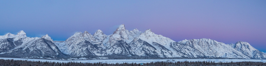 Teton Panorama at Dawn #1