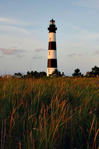 Lighthouse and Tall Grass