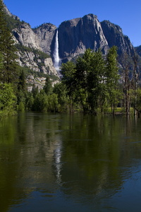 Yosemite Falls and Reflection