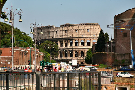 The Colosseum at the End of the Road
