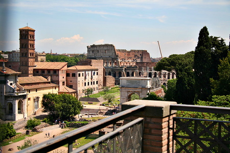 View of the Colosseum from the Palatine