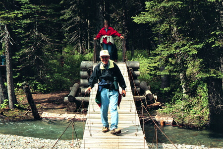 Dad on Footbridge