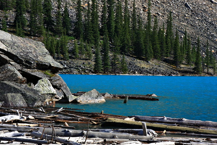 Debris at Moraine Lake