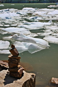 Rock Pile and Ice