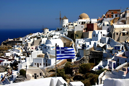 Windmills and Greek Flag