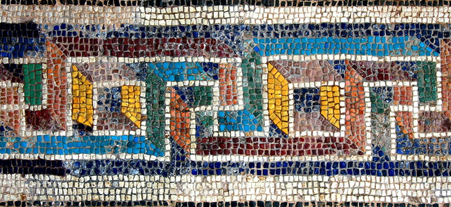 Meandros Pattern Mosaic