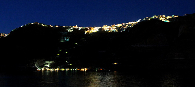 Fira Skyline at Night