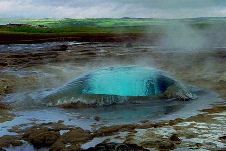 Strokkur About to Erupt