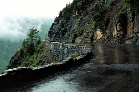 Rain on the Going to the Sun Road