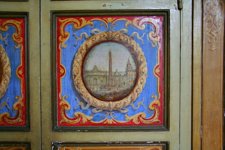Lacquered Armoire with an Obelisk