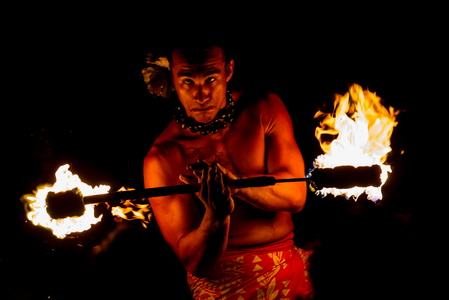 Hawaiian Fire Dancer #3