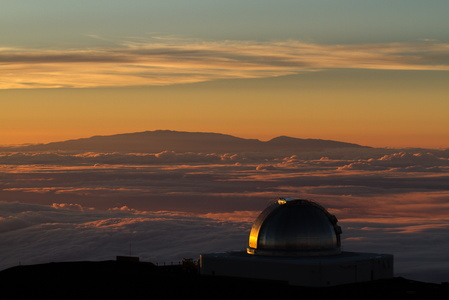 Telescope & Maui at Sunset