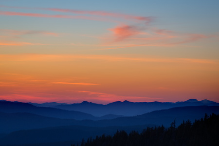Sunset Over the Cascades #2