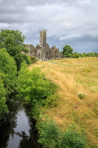 Quin Abbey and Stream