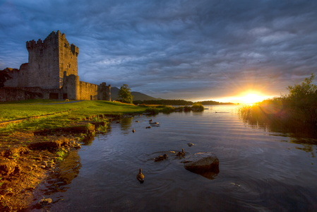 Ross Castle at Sunset
