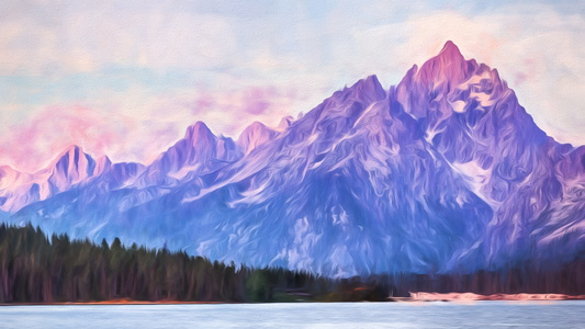 Tetons Sunrise Painting #2