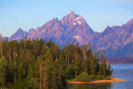 Tetons Sunrise Painting #1