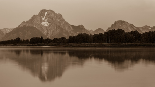Oxbow Bend Black and White