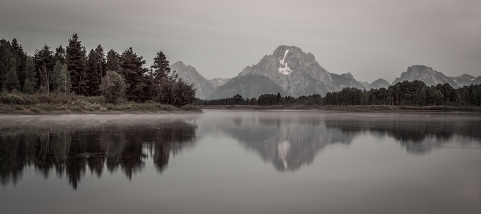 Oxbow Bend Black and White #2