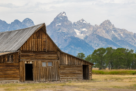 Tetons with Barn #1