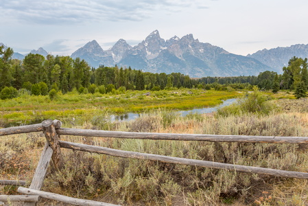 Tetons and Fence