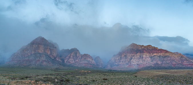 Red Rock Canyon Fog #1