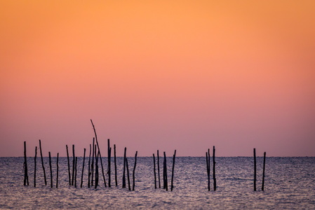 Poles at Sunset