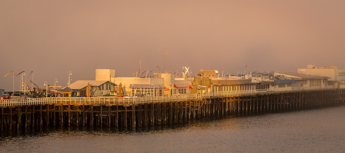 Sunset at Santa Cruz Wharf