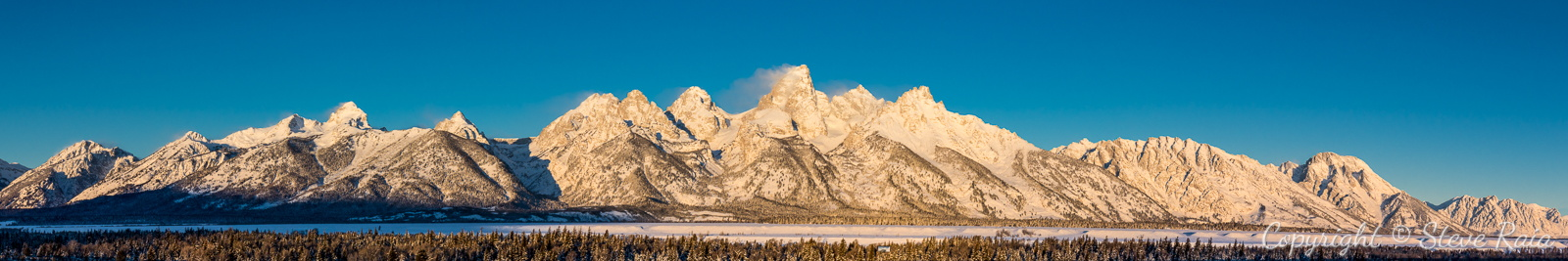 Teton Panorama at Sunrise #3