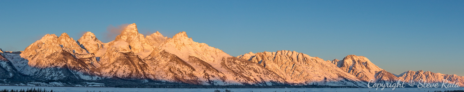 Teton Panorama at Sunrise #2