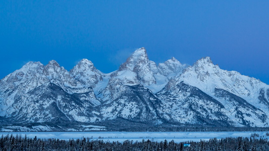 Tetons at Blue Hour #2