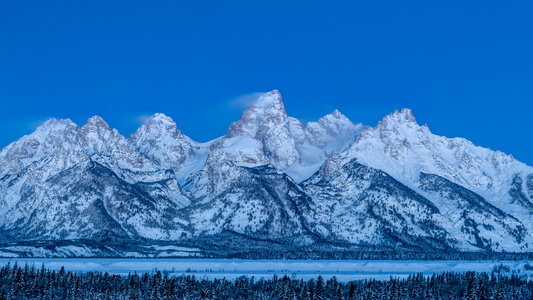 Tetons at Blue Hour #1