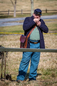 Reenactor With Chewing Tobacco