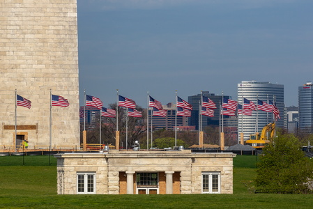 Washington Monument and Flags #1