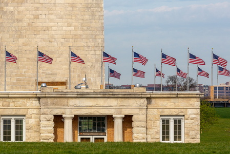 Washington Monument and Flags #2