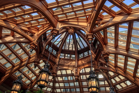 Wood and Glass Ceiling