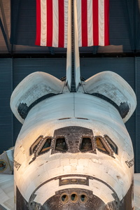Shuttle and Flag