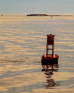Buoy and Fort Sumter