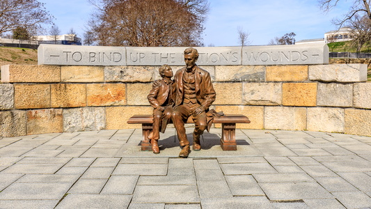 Lincoln and Son Sculpture #2