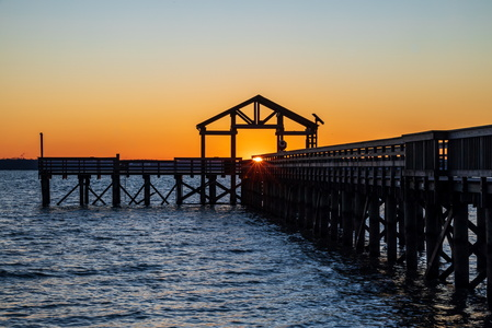 Pier with Sunstar