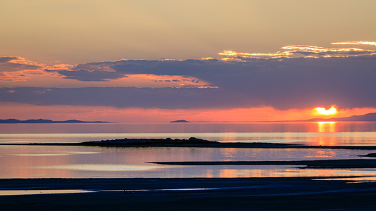 Antelope Island Sunset #4