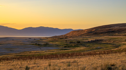 Antelope Island at Sunrise